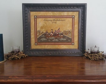 Crossing the Delaware Cross Stitch Sampler