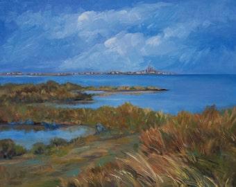 Gruissan sea and beach, landscape, sea, Mediterranean Sea