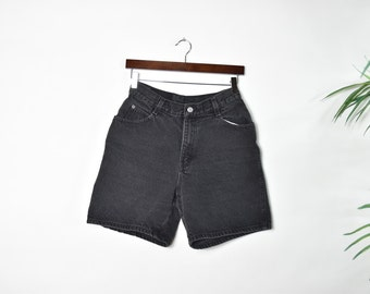 Vintage Black Gitano High Waisted Denim Shorts