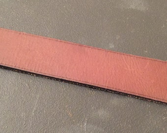 Brown leather made to order bracelet