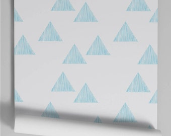 Paper painted pale blue Triangle