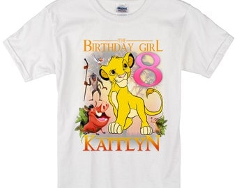 Lion King Birthday Shirt Custom personalized shirts for all family,