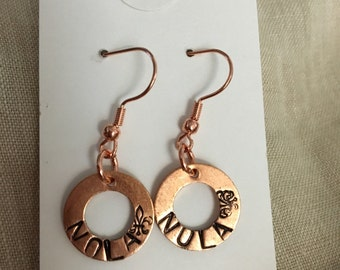 Nola Copper Washer Earrings