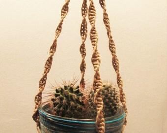 Hanging macrame plant