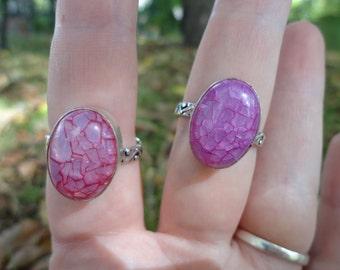 ring quartz pink snakeskin