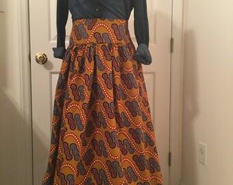 Handmade African Print Maxi Skirt