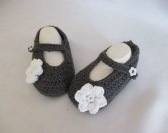 Baby shoes of Mary Janes ballerinas grey approx. size 18/19 foot approx. 12.5 cm cotton
