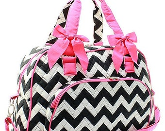 40% OFF - PERSONALIZED / MONOGRAMMED Chevron Quilted Duffel Bag