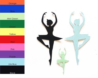 25 pack - Paper Dance Shape, Dancing Shapes, Paper Ballet Shape, Ballerina Shape