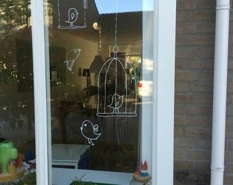 Windowdrawing birds
