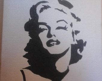 Marilyn Silouhette Portrait