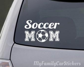 Soccer Mom Decal Vinyl Soccer Mom Sticker