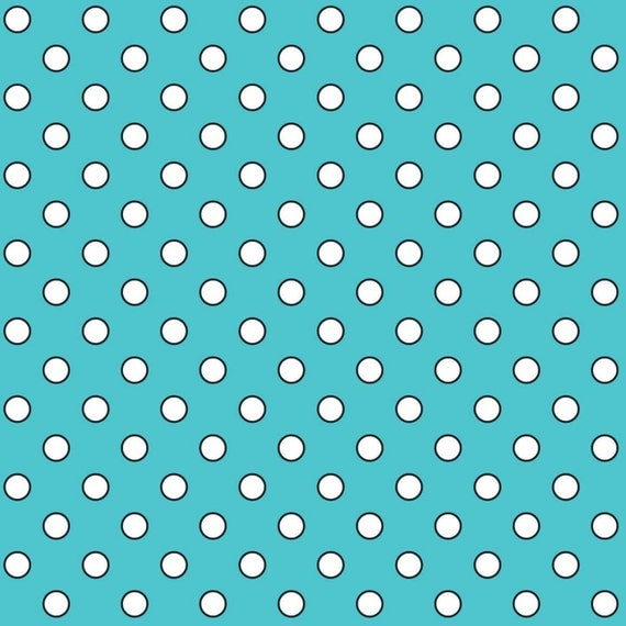 Aqua Polka Dots - Quilt Camp Collection
