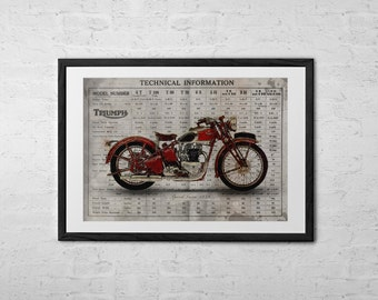 Triumph Speed Twin - Triumph Motorcycle - Triumph Speed Twin 1939 - Classic Motorcycle - Vintage Motorcyle - Classic Motorcycle Gifts
