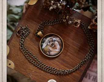 BOSCH necklace bronze cabochon pendant 25mm the garden of delights Monster retail COC005