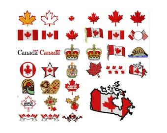 33 Canada Machine Embroidery Designs, Flag Applique, Applique Design, Maple Leaf Pattern, Canadian Patch, Canada Applique, INSTANT DOWNLOAD