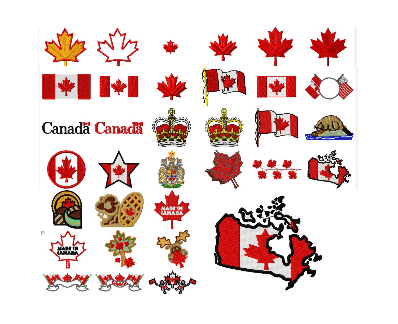 33 Canada Machine Embroidery Designs Flag Applique Applique Design Maple Leaf Pattern ...