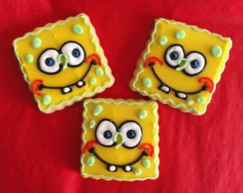 1 dozen SpongeBob favor sized cookies