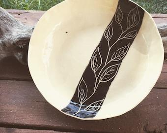 Large handbuilt stoneware platter