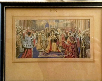 Brocklehurst Whiston Macclesfield Silk Coronation of Queen Elizabeth II 1953