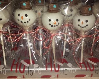 Snowman Cake ball pops