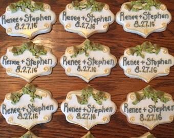 Custom Plaque Cookies (MINIMUM QUANTITY 12)