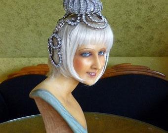 1920s Original Revue Headpiece, Antique French Head Dress, Head Pice, Flapper, Burlesque, 1920s