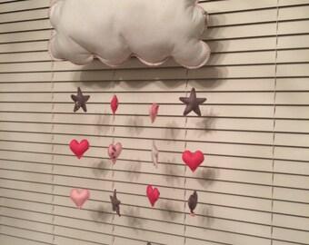 Raining Stars and Hearts Decoration