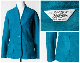 Vintage Women's Cardigan Jacket - 80s Lady Blair Retro Made in the USA