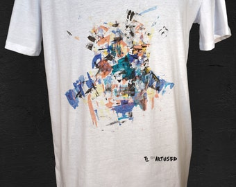 "Men's T-shirt Artused Design ""The Lukewarm"" 100% Organic - Paint & Print in France -"