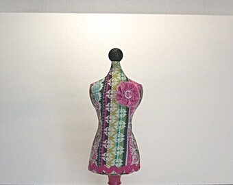 One of a kind Mannequin Pincushion and Jewelry Holder