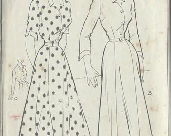 "1940s Vintage Sewing Pattern B38"" DRESS (R77)  Style  5012"