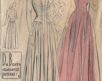 """1941 Vintage Sewing Pattern WEDDING DRESS B30"""" (R310) By 'Du Barry' 2617B"""