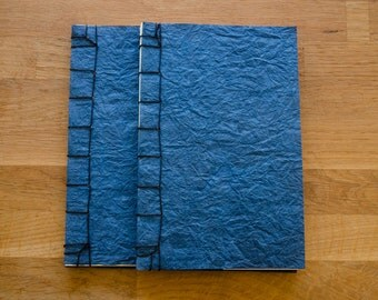Blue Japanese Stab Bound Books