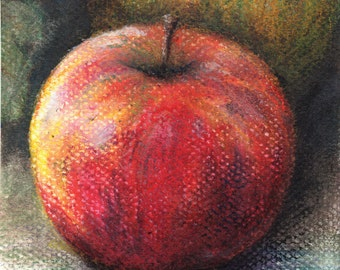 Apple Study- Matted Print