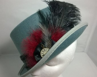 Steampunk Large Grey Top Hat