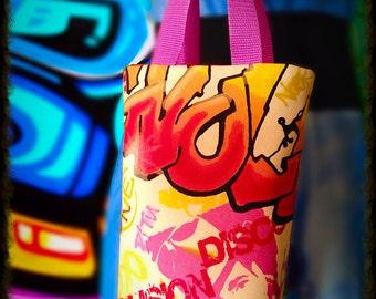Graffiti Style Limited edition Reversible shopping bag by Casa Mangano