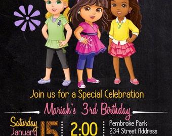 Dora Birthday Invitation