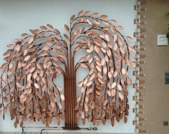 Design radiator as a weeping willow