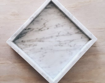 Square Marble Tray - Coffee Table Vanity Bedroom Decor