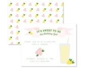 customizable lemonade stand invite / lemonade birthday / baby shower / girl birthday invitation / first birthday / lemonade invitation