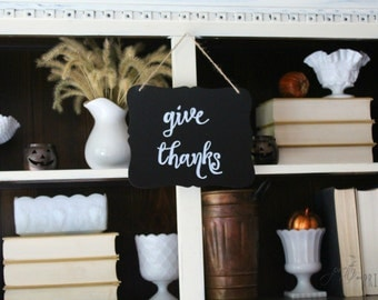 Give Thanks Hanging Chalkboard