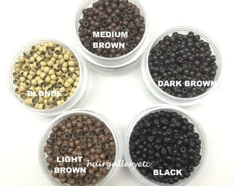 500/1000 Silicone Lined Nano Micro Rings Beads for Nano Tip Hair Extension USA
