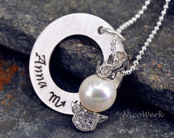 Gift to the baptism of young girls gifts necklace ESK120