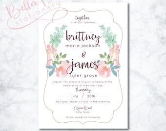 Britt Wedding Invitation Design