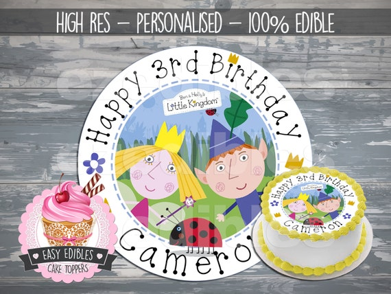 Edible Holly Cake Decorations Asda : PRE-CUT 8 Round Ben and Holly Inspired Edible Icing