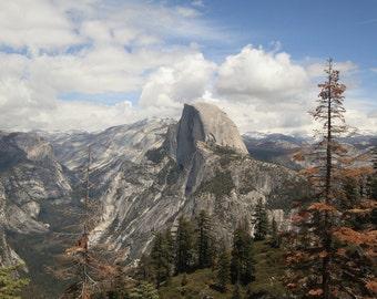 Half Dome Yosemite National Park California mountain landscape poster print STYLE B