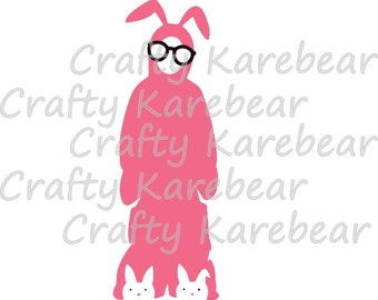 Bunny Suit SVG and DXF Digital File Download