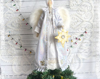 Tree Top Christmas Angel with the star of Bethlehem