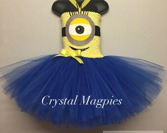 Minion tutu party dress